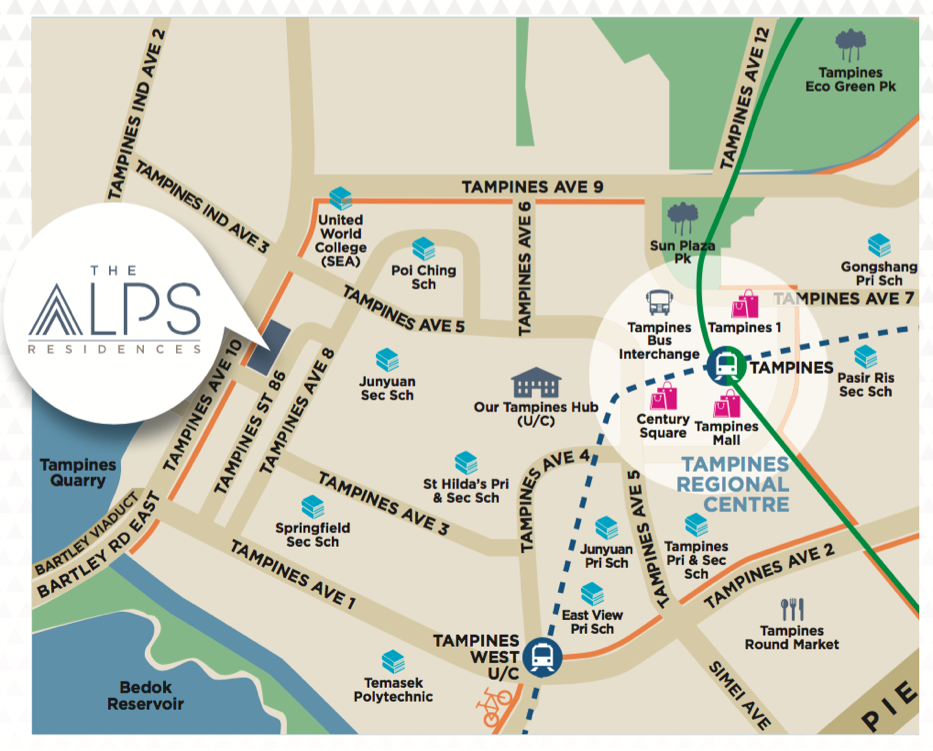 The-Alps-Residences-Location-Map
