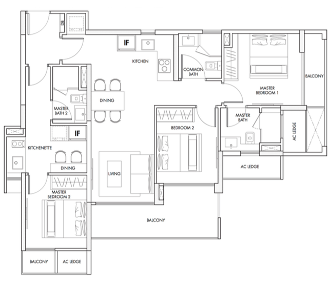 3 Bedroom (DualKey)